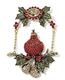 Heidi Daus Partridge Pear Tree SWAROVSKI Crystal Pin ~ First Day of Christmas