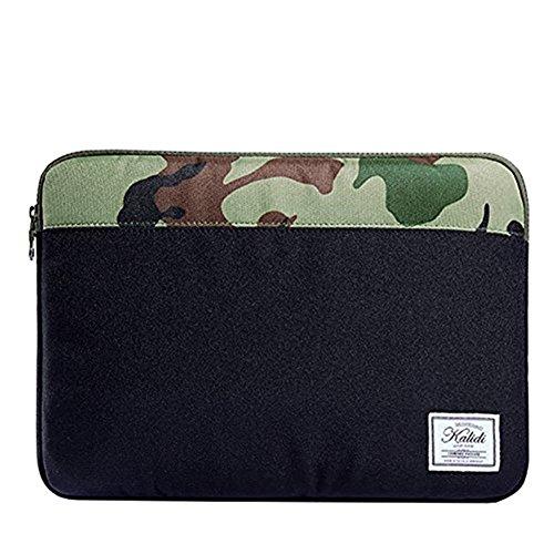 KALIDI 14 Inch Laptop Sleeve Bag Case for Macbook Pro Retina 15/ThinkPad S3 Yoga Series/ThinkPad New X1 Carbon Series/HP Folio 9480m Series, Black&Camouflage - Camo Computer Case