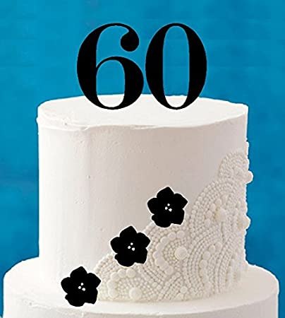 Image Unavailable Not Available For Color 60th Birthday Tall 4inch Cake Topper