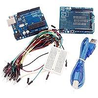 Cables Set UNO R3+ Board + Expansion Board / Mini Bread Board + Jumper Cables Set for Arduino