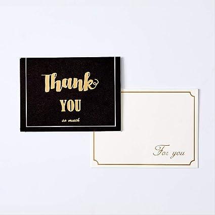 40 piezas Tarjeta de felicitación dorada simple Tarjeta de ...