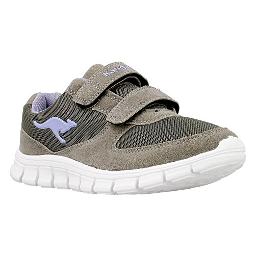 - 0111A0265151 - Color Violet-Beige - Size: 5.0 (Kangaroos Leather Sneakers)