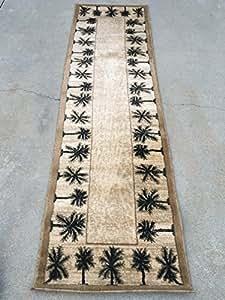 Amazon Com Modern Oasis Tropical Palm Tree Runner 500 000
