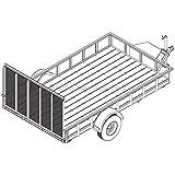 "6′ 10"" x 12′ Utility Trailer Plans - 5,200 lb Capacity | Trailer Blueprints Model U82-144-52J"