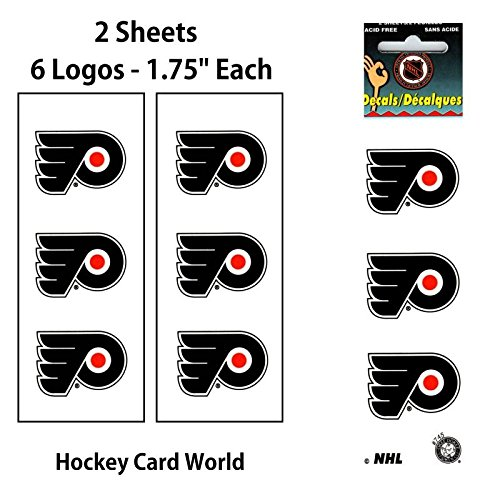 """Philadelphia Flyers 1.75"""" Logo Stickers Decal (Pack of 2 Sheets)"""