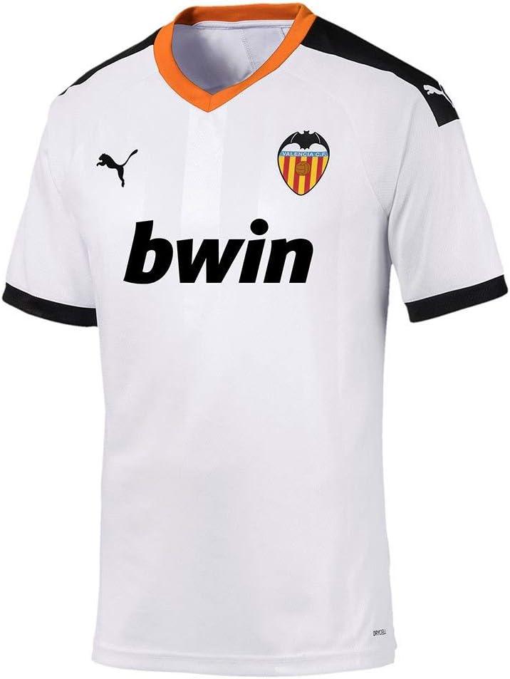 PUMA Valencia CF Pro Primera Equipación 2019-2020, Camiseta, White Black-Vibrant Orange: Amazon.es: Deportes y aire libre