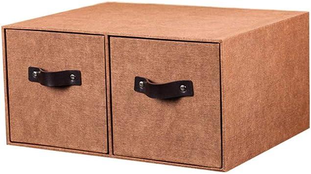 Contenedores de Almacenamiento Decorativos, pequeño Organizador de Escritorio multipropósito Caddy con Caja de Costura de gabinetes de Almacenamiento de 2 cajones y Bricolaje para Oficina en el hogar: Amazon.es: Hogar