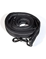 Heavy Duty Dog Leash,Secure Nylon Safety Lead with Locking Carabiner Clip – Pet Leash with Comfortable Padded Handle,Long Reflective Heavy Duty Click Lock Hook Leash Strong(1.5 Meters)