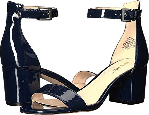 Nine West Women's Fields Patent Dress Sandal, Navy, 6.5 M US