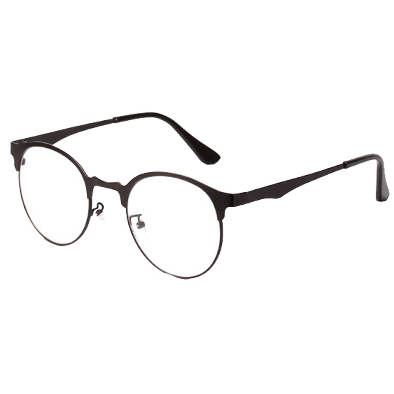 Brillen Nerdbrille Dekogläser Klassisches Rund Fein Rahmen Braun ...