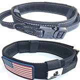 #8: DOG COLLAR WITH CONTROL HANDLE QUICK RELEASE METAL COBRA BUCKLE HEAVY DUTY MILITARY STYLE 2