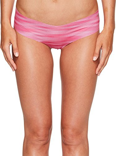 adidas Womens Seamless Underwear Single Hipster, Ratio Print Bahia Magenta/Matte Silver, Large