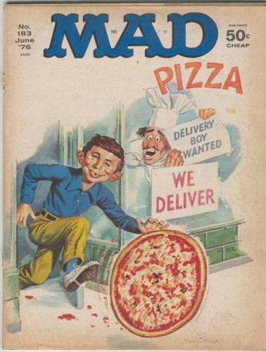 Mad No. 159 June '76 Alfred E. Neuman Pizza Cover with