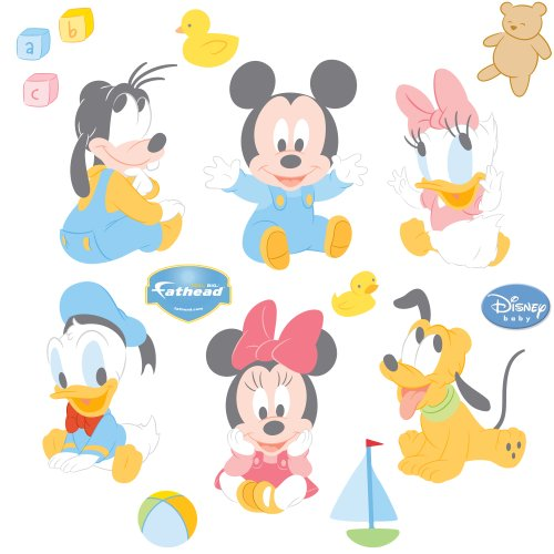 Dinsey Baby Mickey and Friends Wall Graphic (Baby Mickey Wall Decals)