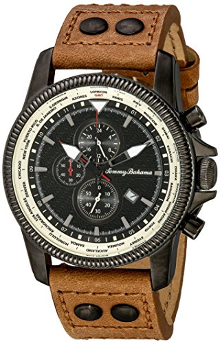 Tommy Bahama Men's 10018323 Paradise Pilot Analog Japanese Quartz Brown Leather Watch