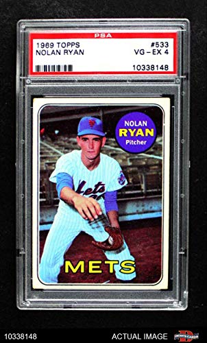 - 1969 Topps # 533 Nolan Ryan New York Mets (Baseball Card) PSA 4 - VG/EX Mets