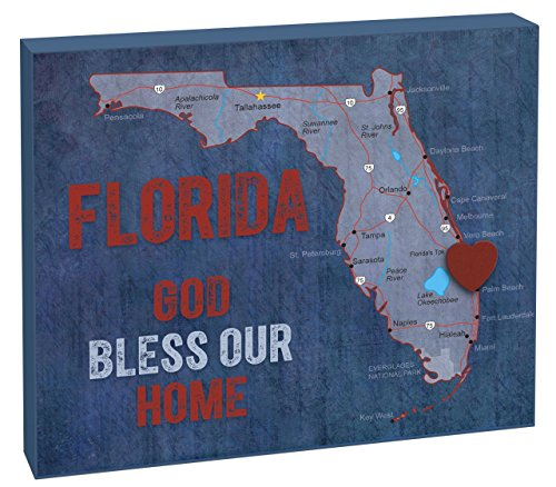 Imagine Design State of My Heart Florida Inspirational Plaque, 10