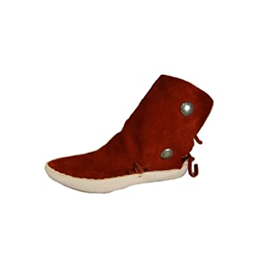 Amazon.com | Taos Moccasins Women's Navajo Style Two Button Thick Sole Moccasins  Women's 7.5 (men's 6.5) Dark red | Loafers & Slip-Ons