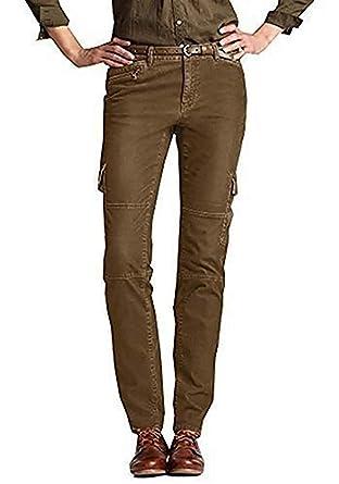 construction rationnelle Achat haute qualité Eddie Bauer Pantalon Cargo Pantalon Velours Femme