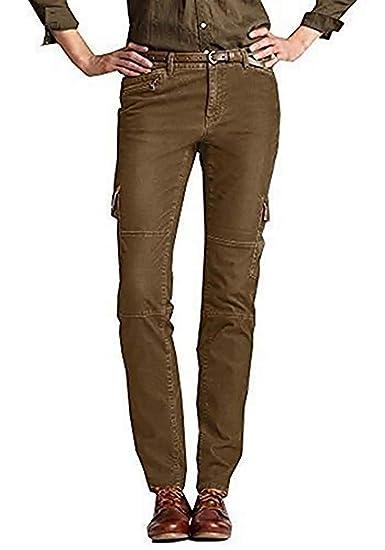 57fc7a3dad6c4 Eddie Bauer Pantalon Cargo Pantalon Velours Femme - Marron, 16 (46):  Amazon.fr: Vêtements et accessoires