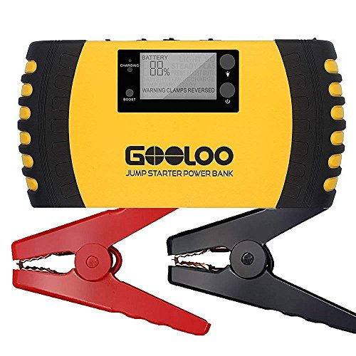 (GOOLOO 1000A Peak 20800mAh SuperSafe Car Jump Starter with USB Quick Charge 3.0 (Up to 8.0L Gas, 6.0L Diesel Engine) 12V Auto Battery Booster Portable Charger Power Pack Built-in Smart Protection)