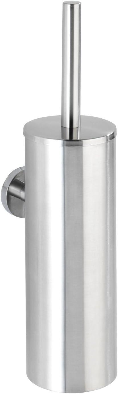 Wenko 21549100 scopino WC Bosio in acciaio Inox Shine chiuso 46,7 x 18,5 x 12,2 cm
