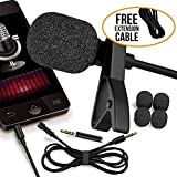 RockDaMic Professional Lavalier Microphone [FREE BONUS ACCESSORIES] Best Clip-on System Lapel Mic Condenser for Recording, Youtube, DSLR, Interview, Camera, iPhone Android PC Video Conference (21)