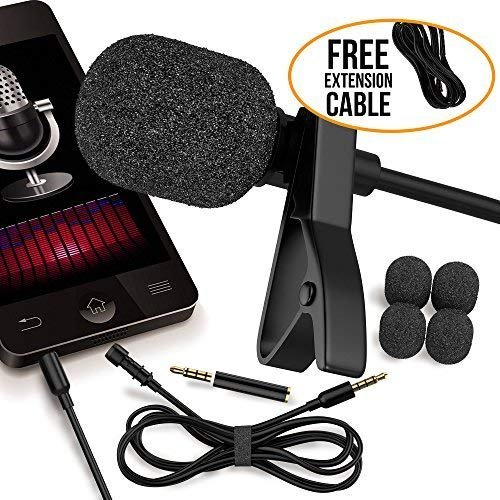 RockDaMic Professional Lavalier Microphone [FREE BONUS ACCESSORIES] Best Clip-on System Lapel Mic Condenser for Recording, Youtube, DSLR, Interview, Camera, iPhone Android PC Video Conference by RockDaMic