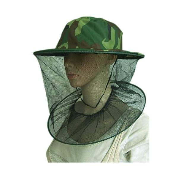 YouU 2 Pack Camouflage Apicoltura Apicoltore Anti-zanzara Ape Bug Insetto Fly Mask cap Hat con Testa Net Mesh Protezione… 6 spesavip