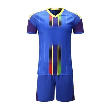 091a06e2f3e Men Football Jerseys Team Sports kit Soccer Jersey Sets Uniforms Shirts  Shorts Jersey  Amazon.co.uk  Clothing