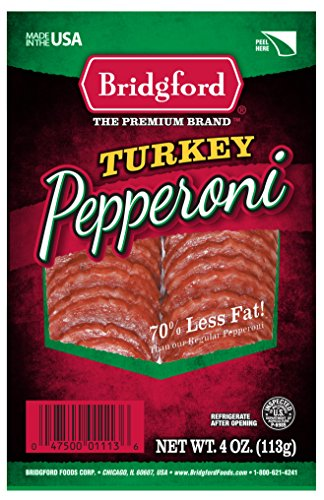Bridgford Turkey Pepperoni, Sliced, 4 Ounce (Pepperoni Sausage)