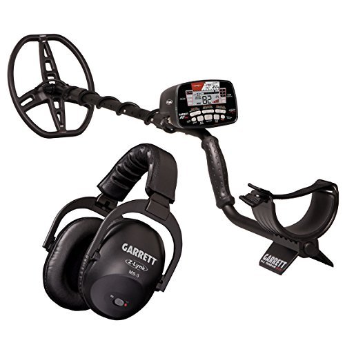 Garrett AT MAX Waterproof Metal Detector, MS-3 Wireless Headphones, and AT Z-Lynk Pinpointer