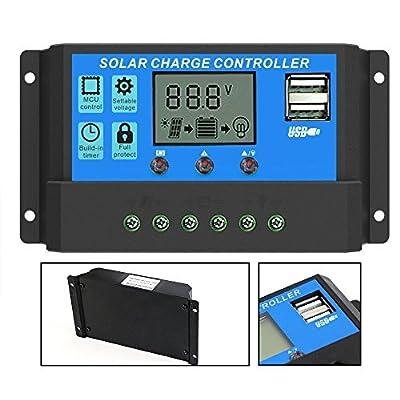 PowMr 10A 20A 30A 40A Solar Charge Controller 12V 24V
