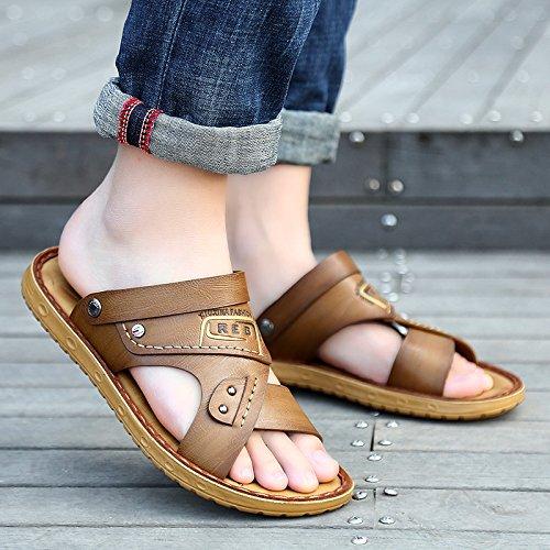 @Sandals Sommer Strand Schuhe, Männer, Neue Casual Weichen Boden, Outdoor Rutschfeste Hausschuhe.