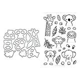 Giraffe Metal Cutting Dies Stamp Stencils DIY Scrapbooking Photo Album Decor Cards (Clear Stamp+Dies Cutting)