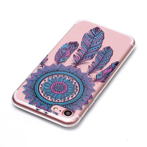 iPhone 8 Hülle, Modisch Blaue Windspiele Transparent TPU Silikon Schutz Handy Hülle Handytasche HandyHülle Etui Schale Schutzhülle Case Cover für Apple iPhone 8