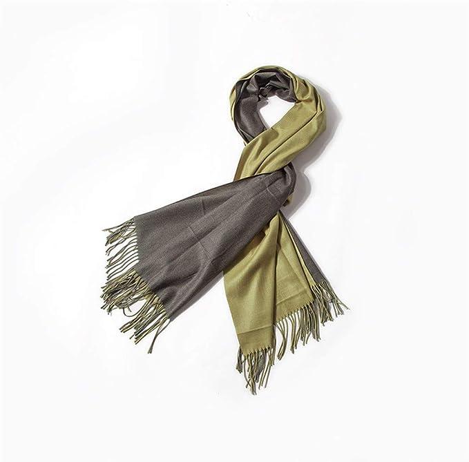 Bufanda chal otoño e invierno algodón doble cara color sólido ...