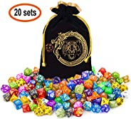 CiaraQ DND Dice Set, Polyhedral Dice Set Great for Dungeons and Dragons, D&D Dice Games, RPG MTG Table Gam
