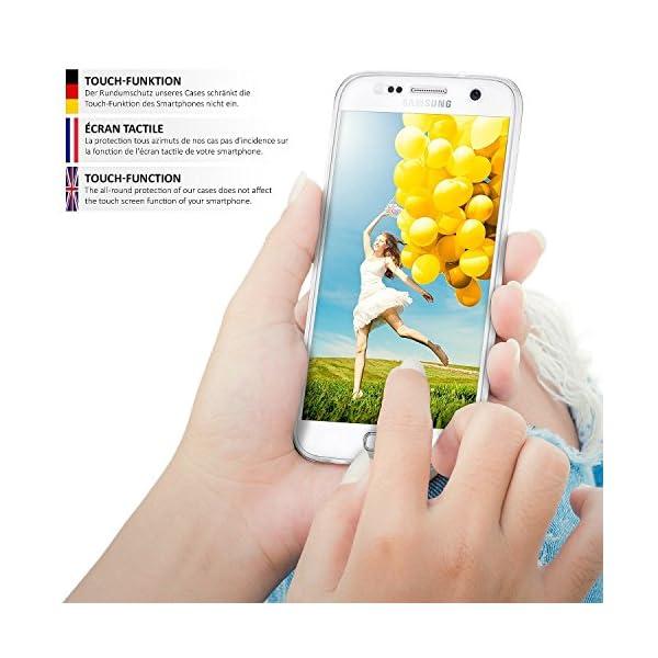COPHONE® Funda Samsung Galaxy S5, Transparente Silicona 360°Full Body Fundas para Samsung Galaxy S5 Carcasa Silicona Funda Case. 6