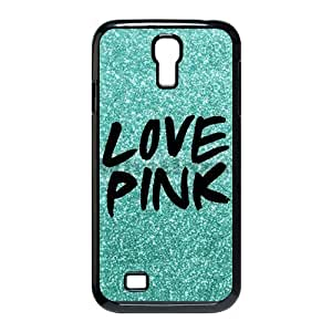 Samsung Galaxy S4 i9500 case Pattern I love pink hard Durable ultrathin Seamless cover Limited Edition by Distinctive Design Studio hjbrhga1544