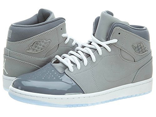 AIR JORDAN [628619-003] 1 Retro 95 Mens Sneakers Medium Gry/White-Cool GreyM