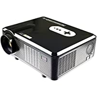 Excelvan CL720 HD Home Cinema Theater Multimedia Projector (3000 Lumens,Native 720P Suppoprt 1080P Resolution,HDMI/Analog TV/VGA/AV),Black