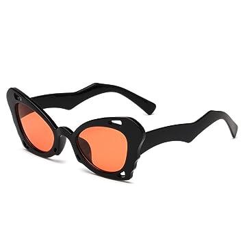 Aoligei Sonnenbrille Damen europäischen und amerikanischen Persönlichkeit unregelmäßige Sonnenbrille Männer Schmetterling shing kT4S7xq