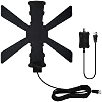 Before 120-Mile Amplified TV Antenna with Signal Booster