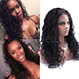 Sunwell Cheap Deep Curly Lace Front Wig Human Hair With Baby Hair For African American Black Women Black Color 130 Dentisy