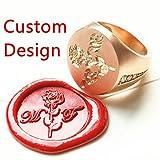 MDLG Custom Design Luxury Golden Wedding Ring Logo