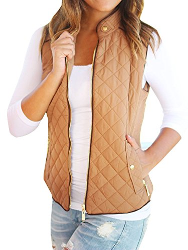 FISACE Womens styligh Packable Down Compact Vests Outdoor Puffer Vest Sportswear Jacket