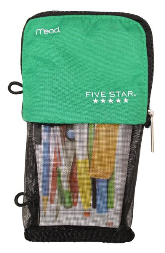 Mead Stand 'N Store Five Star Pencil Pouch | Green]()