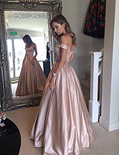 Ballkleider 2018 Damen Hochzeit Günstige LuckyShe Rosebraun Elegant Lang für Abendkleider fxIUW