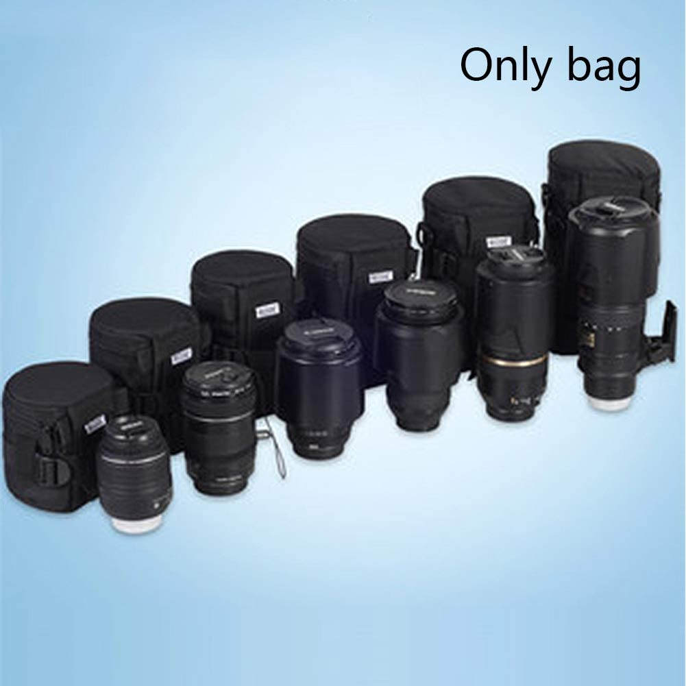 Faddare Lens Bag Lightweight Two-Way Zipper Multifunction Rainproof Space Saving Dust-Proof Nylon Thread Gluing Shockproof Waterproof Protector sy to Carry Loop Belt 13 13 23cm